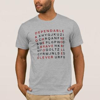 Het Kruiswoordraadsel van de papa T Shirt