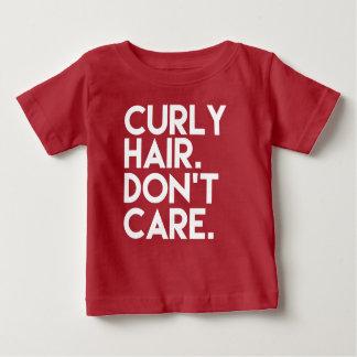 Het krullende Haar geeft niet grappig babyoverhemd Baby T Shirts
