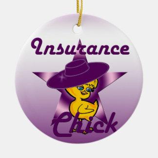 Het Kuiken van de verzekering #9 Rond Keramisch Ornament