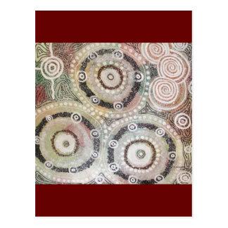 Het Kunstwerk van Corroboree door Nganuwaay Koolyn Briefkaart