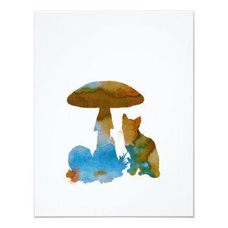 Het Kunstwerk van de kat 10,8x13,9 Uitnodiging Kaart