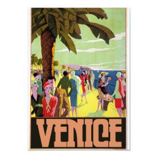 Het Kunstwerk van de Reis van Venetië 12,7x17,8 Uitnodiging Kaart