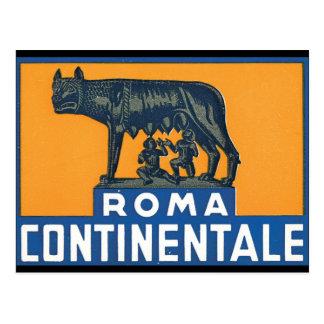 Het Kunstwerk van het Poster van de Reis van Rome Briefkaart