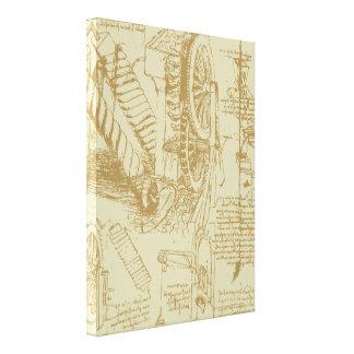 Het Kunstwerk van Leonardo da Vinci Canvas Afdrukken