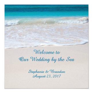 Het kust Huwelijk van Geloften door het Programma 13,3x13,3 Vierkante Uitnodiging Kaart