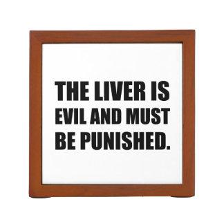 Het Kwaad van de lever moet worden gestraft Pennenhouder