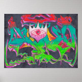 Het kwade Poster van Graffiti van het Oog