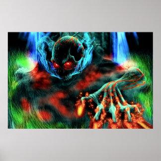 Het kwade Poster van het Skelet