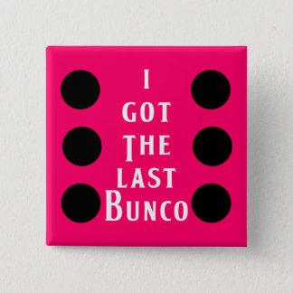 Het laatste Ontwerp van de Punt Bunco Vierkante Button 5,1 Cm