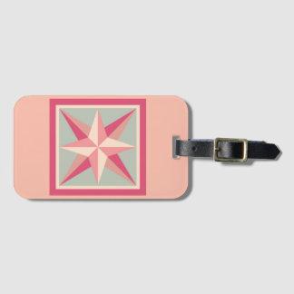 Het Label van de bagage - Afgeschuinde (roze) Ster Bagagelabel