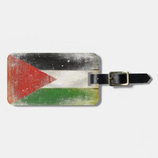 Het Label van de bagage met Verontruste Vlag van Bagagelabel