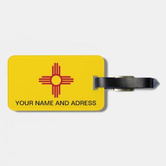 Het Label van de bagage met Vlag van New Mexico, Bagagelabel