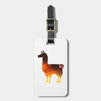 Het Label van de Bagage van de Lama van de brand Bagagelabel