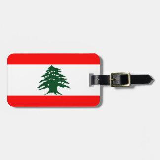 Het Label van de Bagage van de Vlag van Libanon Kofferlabels
