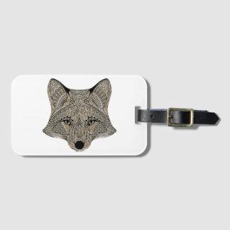 Het Label van de Bagage van de vos Kofferlabel