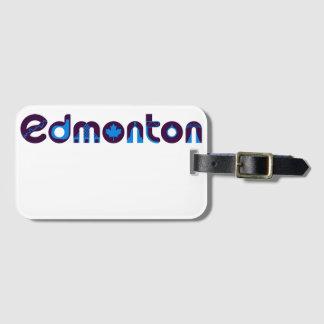 Het Label van de Bagage van Edmonton Kofferlabel