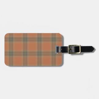 Het Label van de Bagage van het Geruite Schotse Bagagelabel