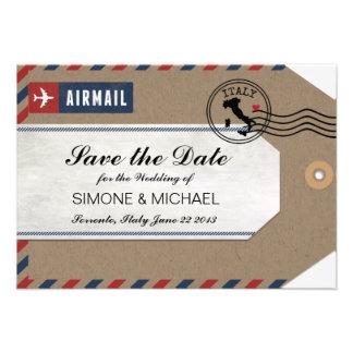 Het Label van de Bagage van het Luchtpost van Ital Aankondigingen