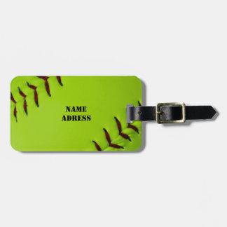 Het label van de Bagage van het softball Kofferlabels