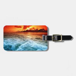 Het Label van de Bagage van het strand Bagagelabel