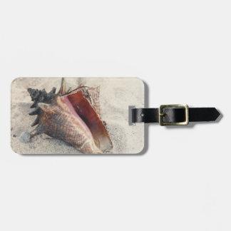 Het Label van de Bagage van Shell van de kroonslak Bagagelabel