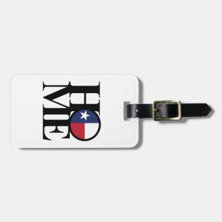 Het Label van de Bagage van Texas van het HUIS & Kofferlabels