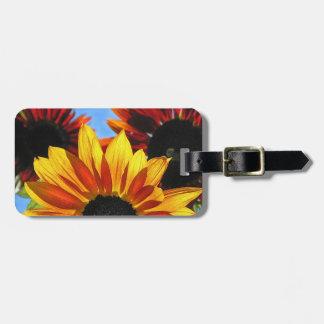 Het Label van de Bagage van zonnebloemen Bagagelabel