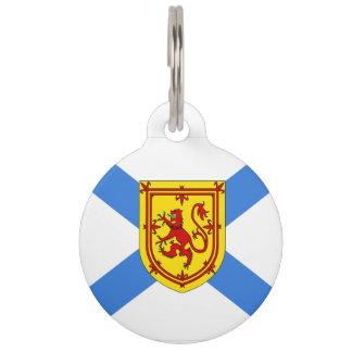 Het Label van de de vlaghond van Nova Scotia van Honden Penningen