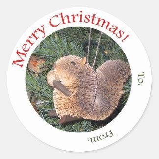 Het Label van de gift -- Het Ornament van de