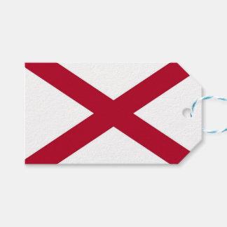 Het Label van de gift met Vlag van Alabama, de Cadeaulabel