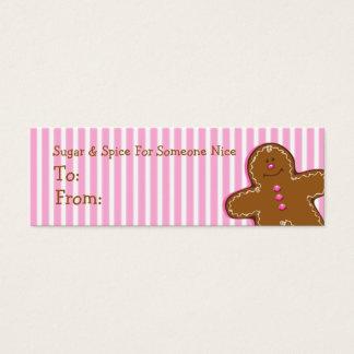 Het Label van de Gift van de Douane van de Mini Visitekaartjes