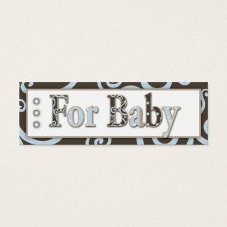Het Label van de Gift van de Jongen van het Baby Mini Visitekaartjes