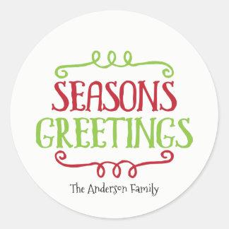 Het Label van de Gift van de Sticker van Kerstmis