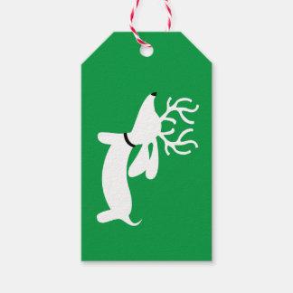 Het Label van de Gift van Kerstmis van de Tekkel Cadeaulabel