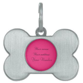 Het Label van de Hond van Girly Huisdieren Naamplaatjes
