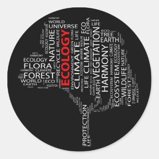 Het Label van de Wolk van de ecologie Ronde Sticker