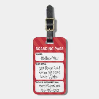 Het Label van de Zak van de Instapkaart Kofferlabel