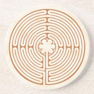 Het Labyrint van Chartres Zandsteen Onderzetter