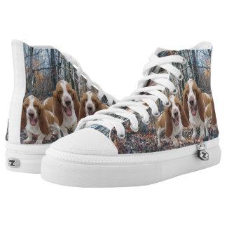 Het lachen Basset Honden in het Bos High Top Schoenen