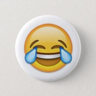 Het lachen Emoji Ronde Button 5,7 Cm