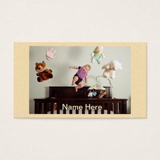 het lachen het stuiteren baby visitekaartjes