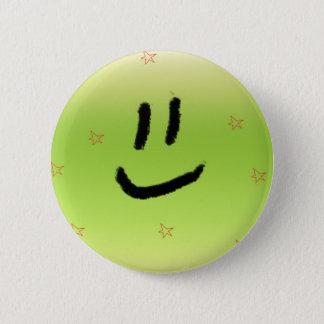 Het lachen ronde button 5,7 cm