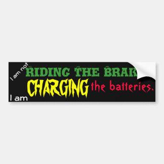 Het laden van de Batterijen Bumpersticker