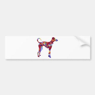 Het lage PolyPictogram van de Hond van de Windhond Bumpersticker
