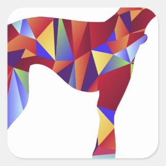 Het lage PolyPictogram van de Hond van de Windhond Vierkante Sticker