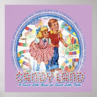 Het Land van het snoep - een Snoepje Weinig Spel Poster