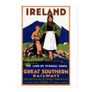 Het Land van Ierland van de Eeuwige Wijnoogst van Briefkaart