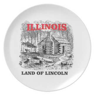 Het land van Illinois van Lincoln Melamine+bord