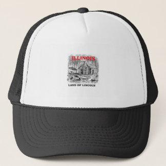 Het land van Illinois van Lincoln Trucker Pet