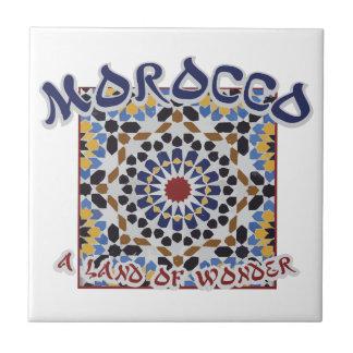 Het Land van Marokko van Wonder Keramisch Tegeltje